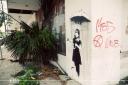 Banksy Rain Girl