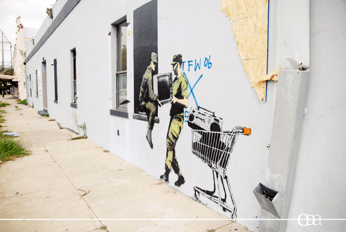 Banksy Looters 2008